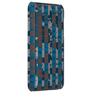 Rayas lamentables en Brown y azul iPod Touch Case-Mate Fundas