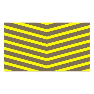 Rayas largas de moda de moda del amarillo del tarjetas de visita