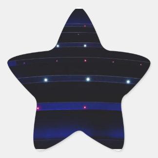 Rayas ligeras azules bonitas pegatina en forma de estrella