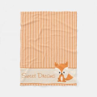 Rayas lindas del Fox y del naranja y del moreno el Manta De Forro Polar