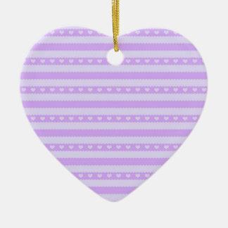 Rayas lindas del tono de la púrpura dos con los co adorno