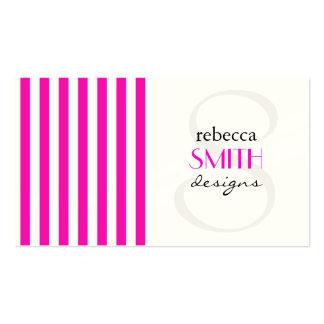 Rayas (líneas paralelas) - blanco rosado plantilla de tarjeta de visita