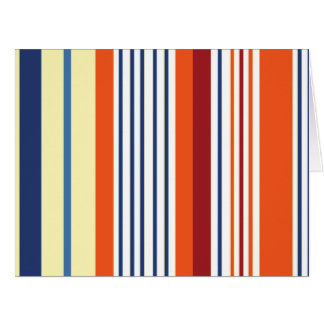 Rayas (líneas paralelas) - naranja azul amarillo tarjeta de felicitación grande