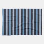 Rayas (líneas paralelas) - negro azul toalla de cocina
