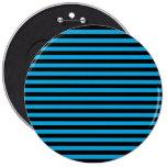 Rayas (líneas paralelas) - negro azul chapa redonda 15 cm