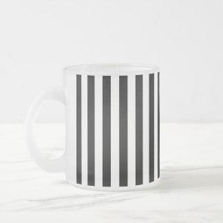 Rayas (líneas paralelas) - negro blanco tazas de café