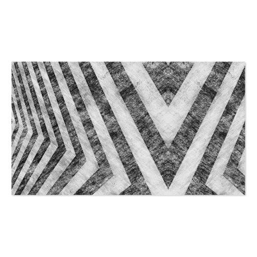 Rayas llevadas vintage del peligro texturizadas tarjetas de negocios