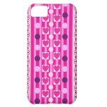 Rayas, lunares y caso del iPhone 5 de los corazone