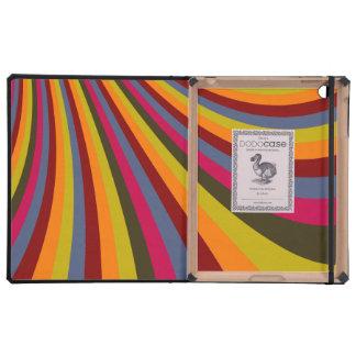 Rayas maravillosas de la diapositiva del arco iris iPad cárcasas