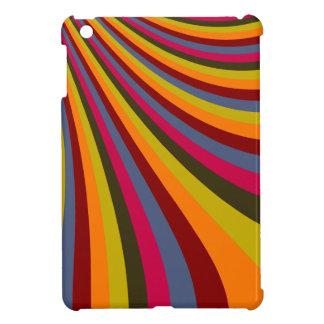 Rayas maravillosas de la diapositiva del arco iris iPad mini protector