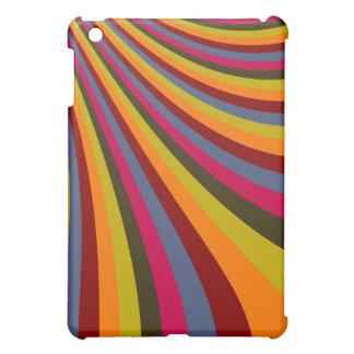Rayas maravillosas de la diapositiva del arco iris iPad mini cobertura