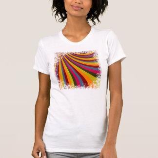 Rayas maravillosas de la diapositiva del arco iris camiseta
