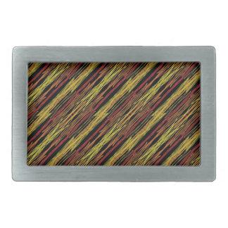 rayas, marrón y amarillo del safari hebilla cinturón rectangular