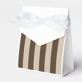 Rayas - marrones claras y Brown oscuro Paquetes De Regalo Para Bodas