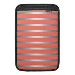 Rayas metálicas de plata de Sheen contra rosa Funda Macbook Air