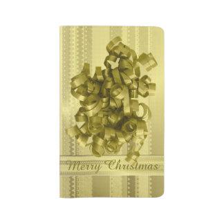 Rayas metálicas del navidad del oro del diseño de funda para libreta y libreta grande moleskine