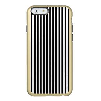 Rayas modernas blancos y negros elegantes funda para iPhone 6 plus incipio feather shine