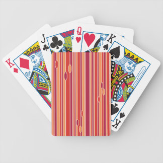 Rayas modernas de la granada cartas de juego