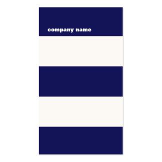 Rayas modernas de los azules marinos y del blanco  tarjetas de visita