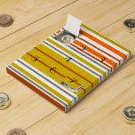 Rayas modernas del blanco del amarillo anaranjado