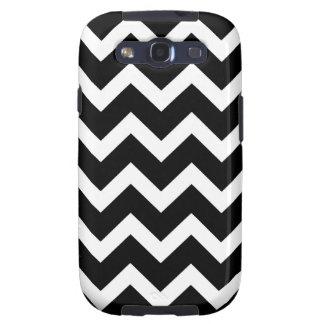 Rayas modernas negras y blancas de Chevron Galaxy S3 Carcasa