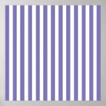 Rayas modernas púrpuras posters