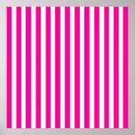 Rayas modernas rosadas posters
