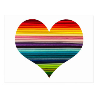 Rayas multicoloras coloreadas arco iris del diseño tarjeta postal