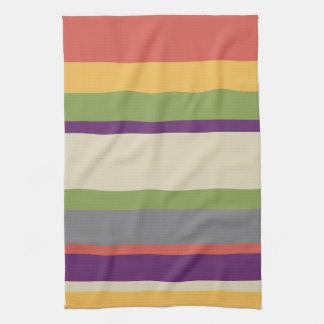 Rayas multicoloras cuatro toalla de cocina