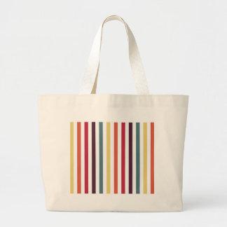 Rayas multicoloras elegantes bolsas lienzo