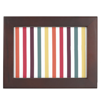 Rayas multicoloras elegantes caja de recuerdos