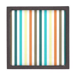 Rayas multicoloras elegantes cajas de joyas de calidad