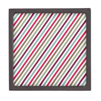 Rayas multicoloras elegantes diagonales cajas de regalo de calidad