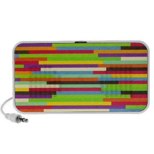Rayas multicoloras intrépidas brillantes laptop altavoz