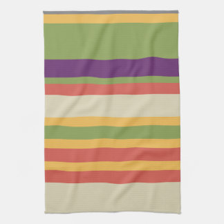 Rayas multicoloras tres toalla de cocina