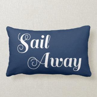 Rayas náuticas blancas azules de la navegación almohadas
