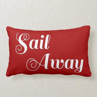 Rayas náuticas blancas rojas de la navegación almohada