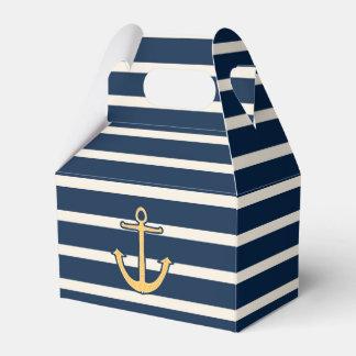 Rayas náuticas de la marina de guerra del ancla caja para regalo de boda