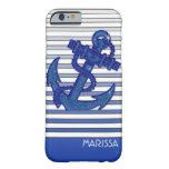Rayas náuticas de Ombre del barco de navegación Funda De iPhone 6 Barely There