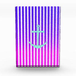 Rayas náuticas del ancla del trullo azul rosado de