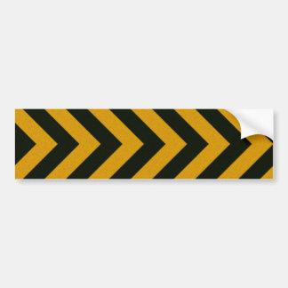 Rayas negras amarillas del peligro de Chevron Etiqueta De Parachoque