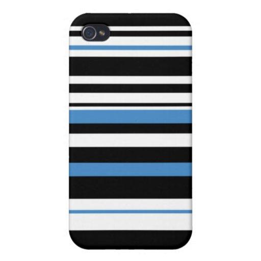 rayas negras/azules del caso del iPhone 4 iPhone 4 Protector