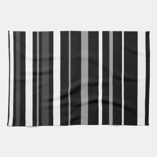 Rayas negras, blancas y grises toallas
