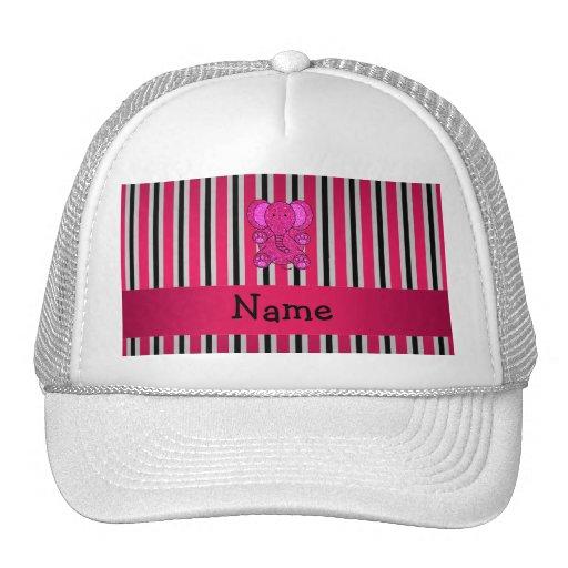 Rayas negras conocidas personalizadas del rosa del gorras de camionero