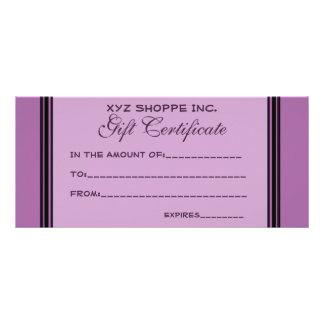 Rayas negras de la púrpura del vale tarjeta publicitaria personalizada