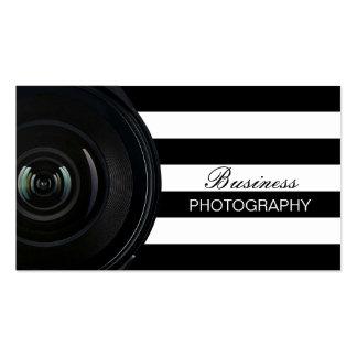 Rayas negras del fotógrafo y blancas modernas tarjetas de visita