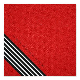 rayas negras en invitaciones coloreadas de la invitación 13,3 cm x 13,3cm