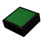Rayas negras en verde cajas de regalo