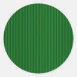 Rayas negras en verde etiquetas redondas