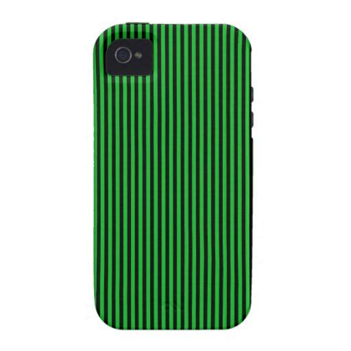 Rayas negras en verde iPhone 4/4S funda